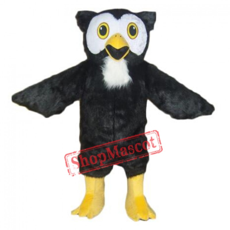 Black Owl Mascot Costume Free Shipping