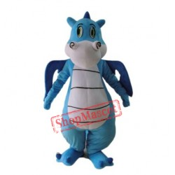 High Quality Blue Dinosaur Mascot Costume