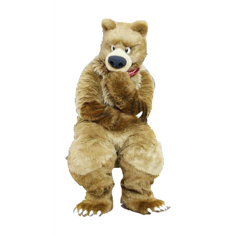 Thinker Bear Mascot Costume