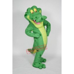 Happy Lightweight Alligator Mascot Costume