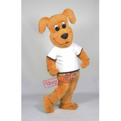 Cute Yellow Lightweight Dog Mascot Costume