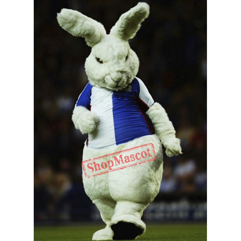 Fierce White Rabbit Mascot Costume