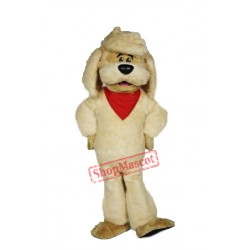 Cute Lightweight Yellow Dog Mascot Costume