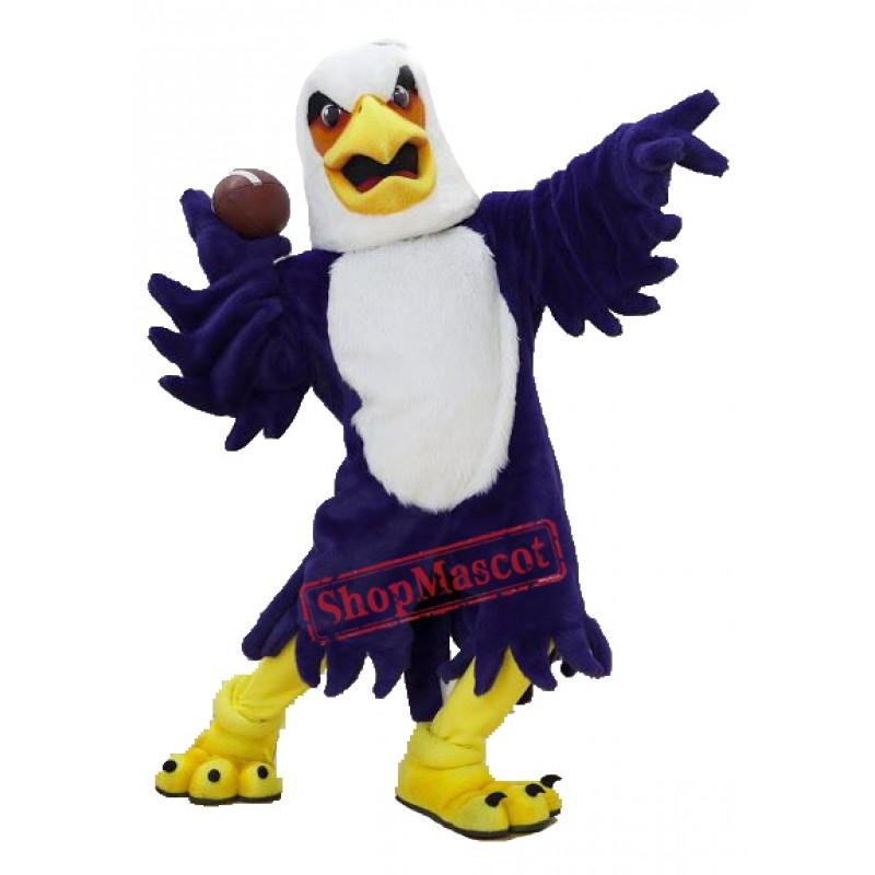 University Purple Eagle Mascot Costume