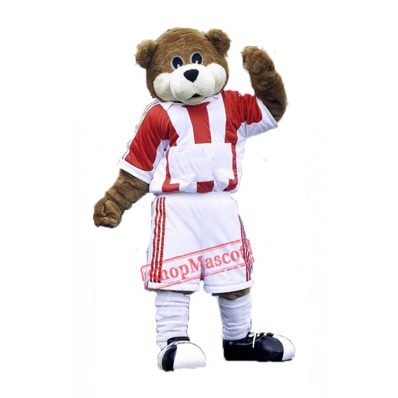 Football Bear Mascot Costume Free Shipping