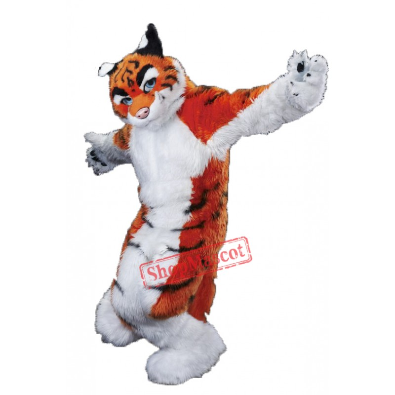 High Quality Furry Tiger Mascot Costume