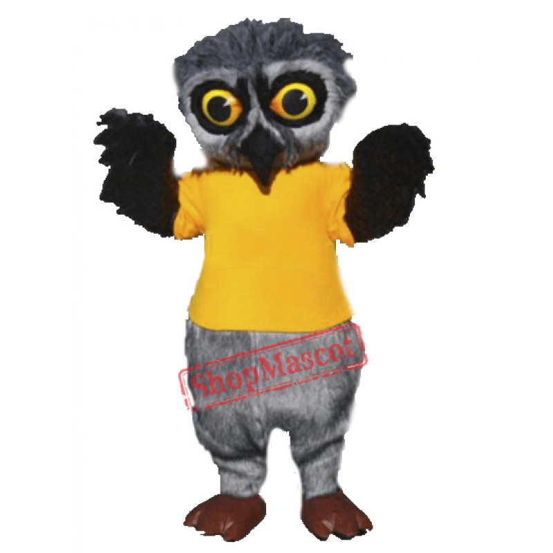 High Quality Furry Owl Mascot Costume