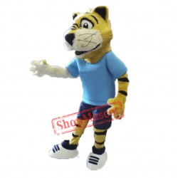 College Furry Tiger Mascot Costume
