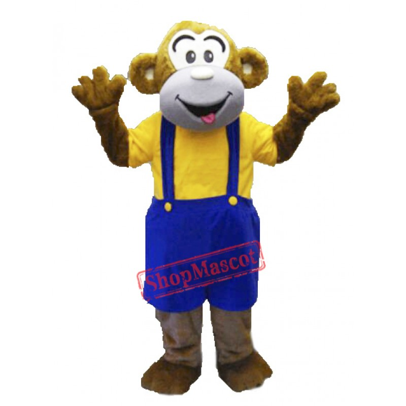 Adult Happy Monkey Mascot Costume