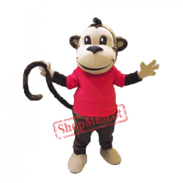 College Happy Monkey Mascot Costume