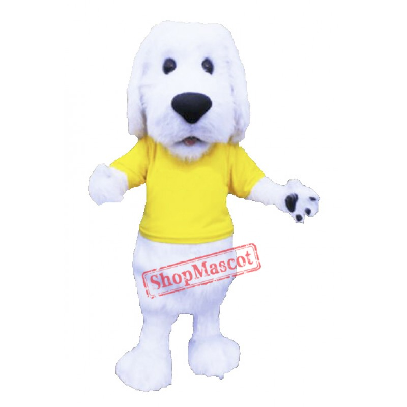 Cute White Dog Mascot Costume Free Shipping