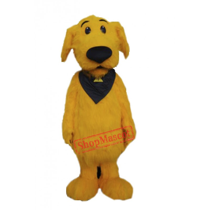 Cute Furry Yellow Dog Mascot Costume