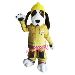 Fire Brigade Dog Mascot Costume