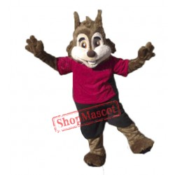 Cute Sport Squirrel Mascot Costume