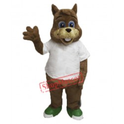 Cute Lightweight Squirrel Mascot Costume Free Shipping