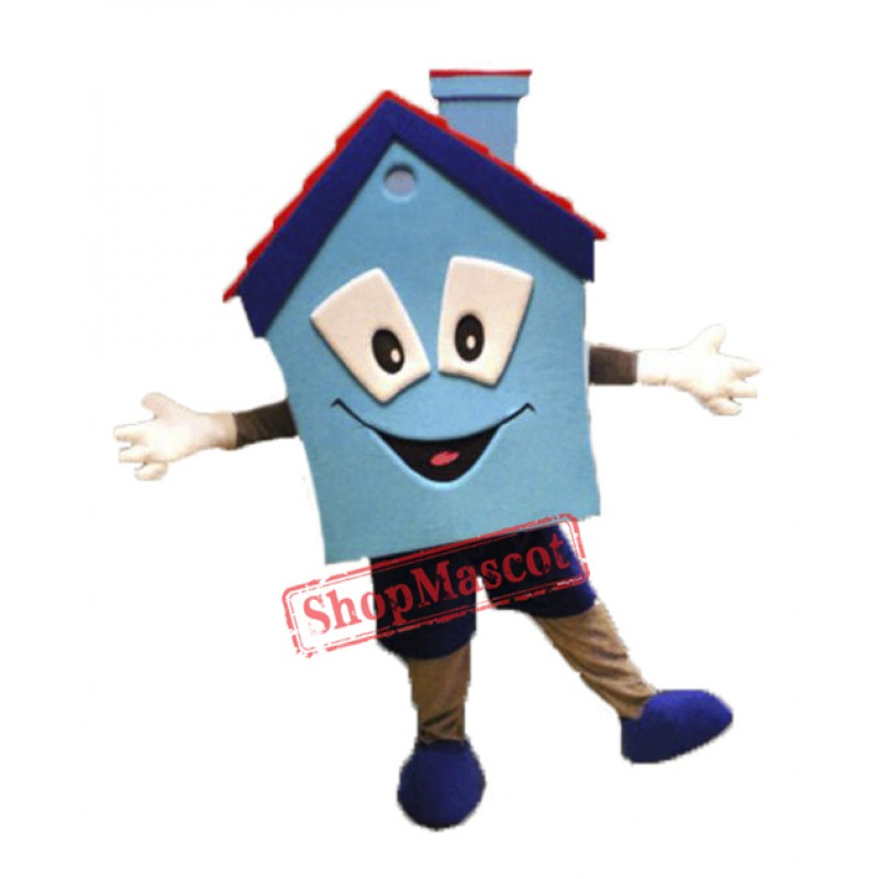 High Quality Blue House Mascot Costume