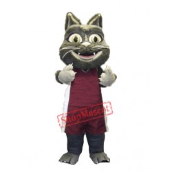 Cute Furry Cat Mascot Costume