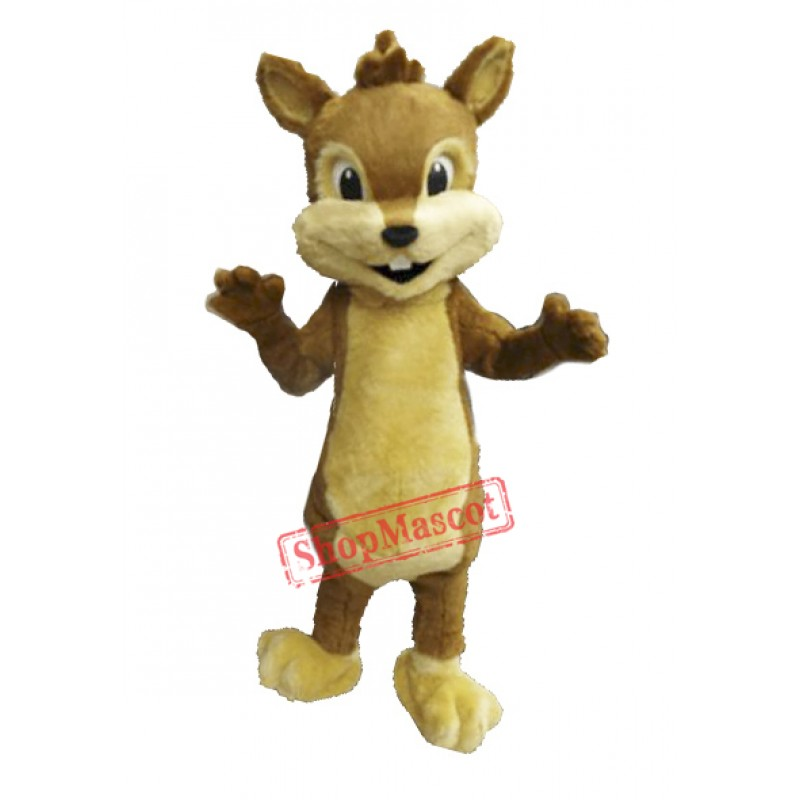 Cute Furry Chipmunk Mascot Costume