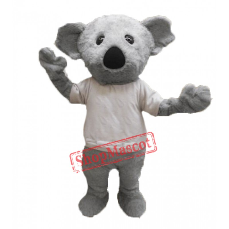 Cute Furry Koala Mascot Costume