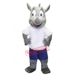 High Quality Rhino Mascot Costume
