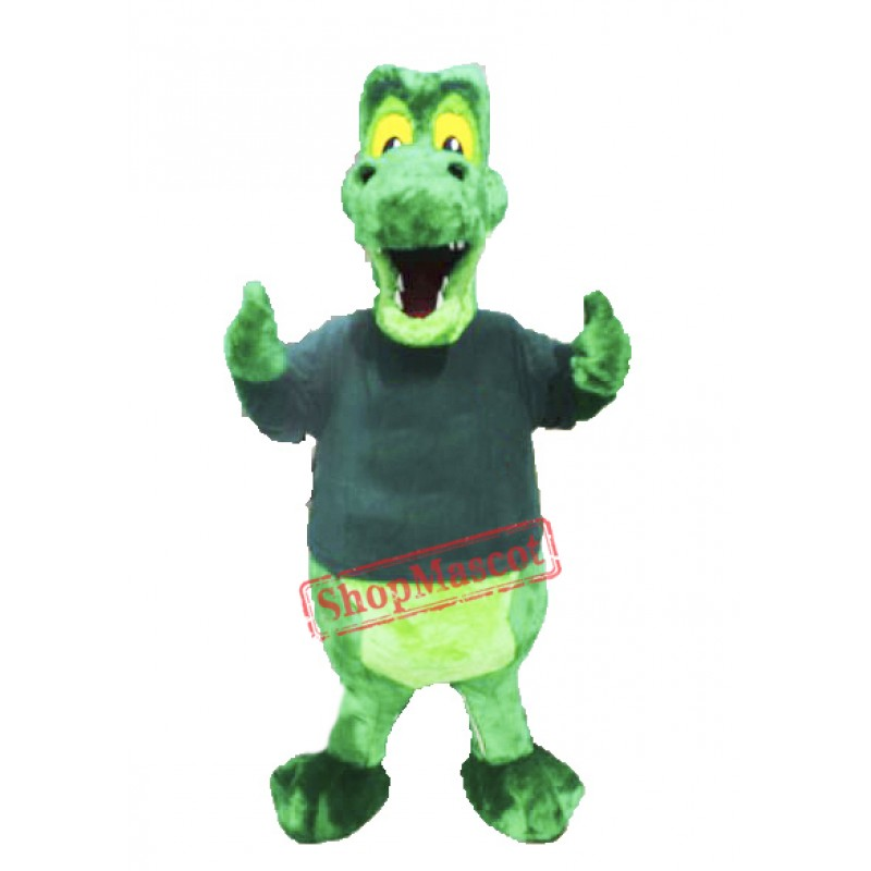 Green Alligator Mascot Costume