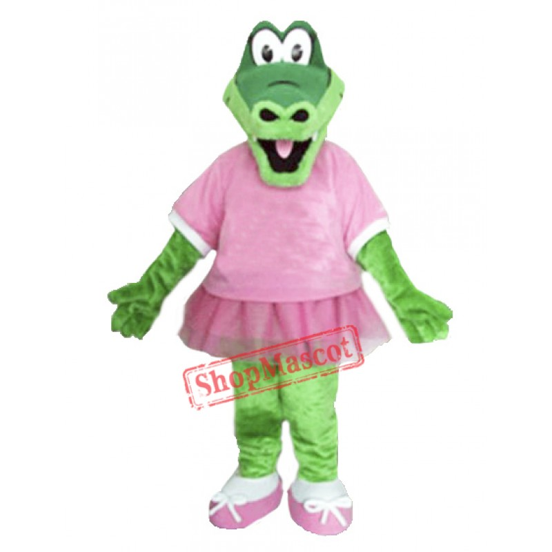 Beautiful Alice Alligator Mascot Costume