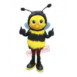 Cute Fluffy Bee Mascot Costume