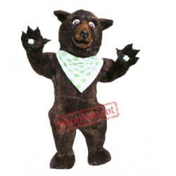 Brown Fluffy Bear Mascot Costume