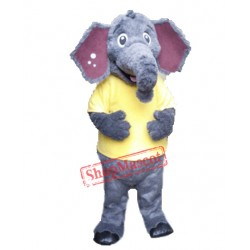 Cute Fluffy Elephant Mascot Costume
