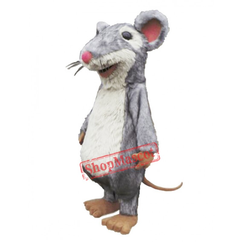 High Quality Fluffy Mouse Mascot Costume