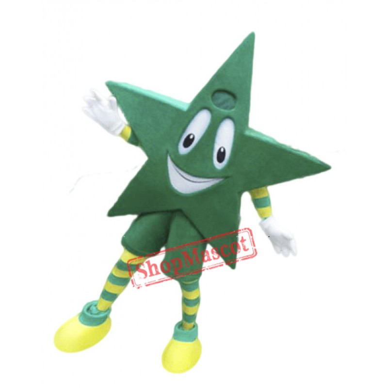 Green Star Mascot Costume