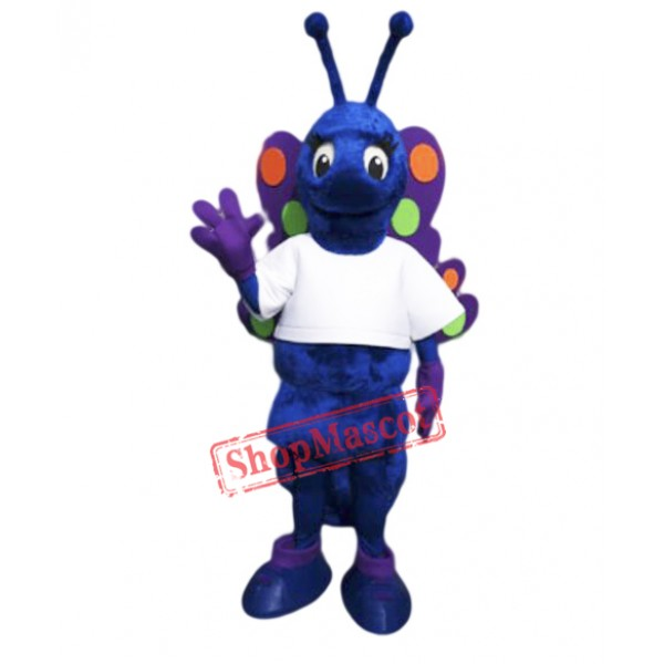 Blue Butterfly Mascot Costume