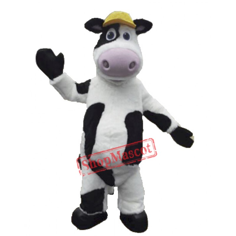 High Quality Furry Cow Mascot Costume