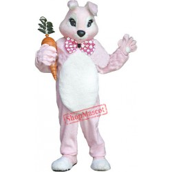 Deluxe Pink Bunny Rabbit Mascot Costume Free Shipping