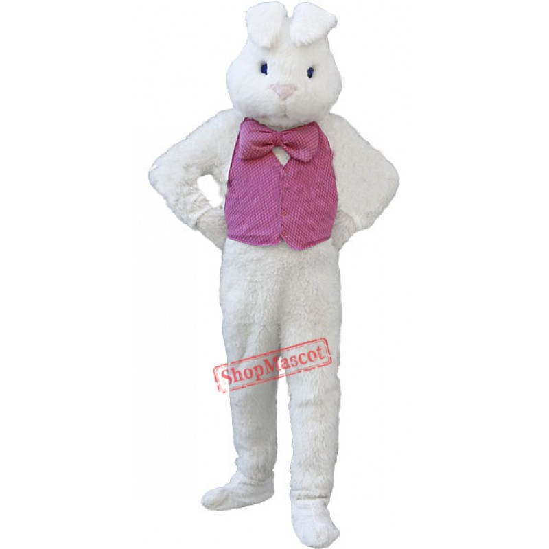 Deluxe White Bunny Rabbit Mascot Costume