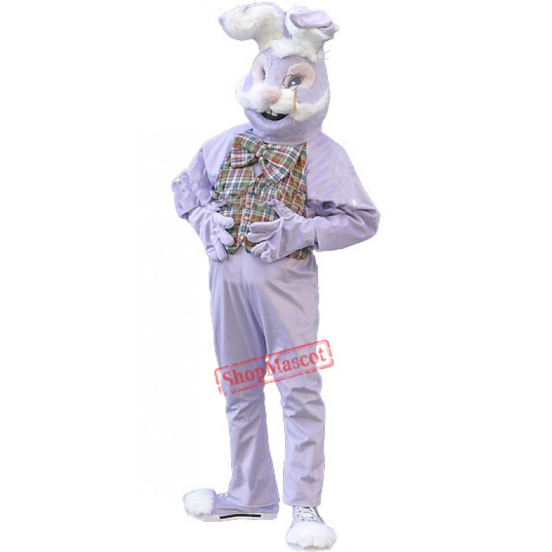 Purple Bunny Rabbit Mascot Costume