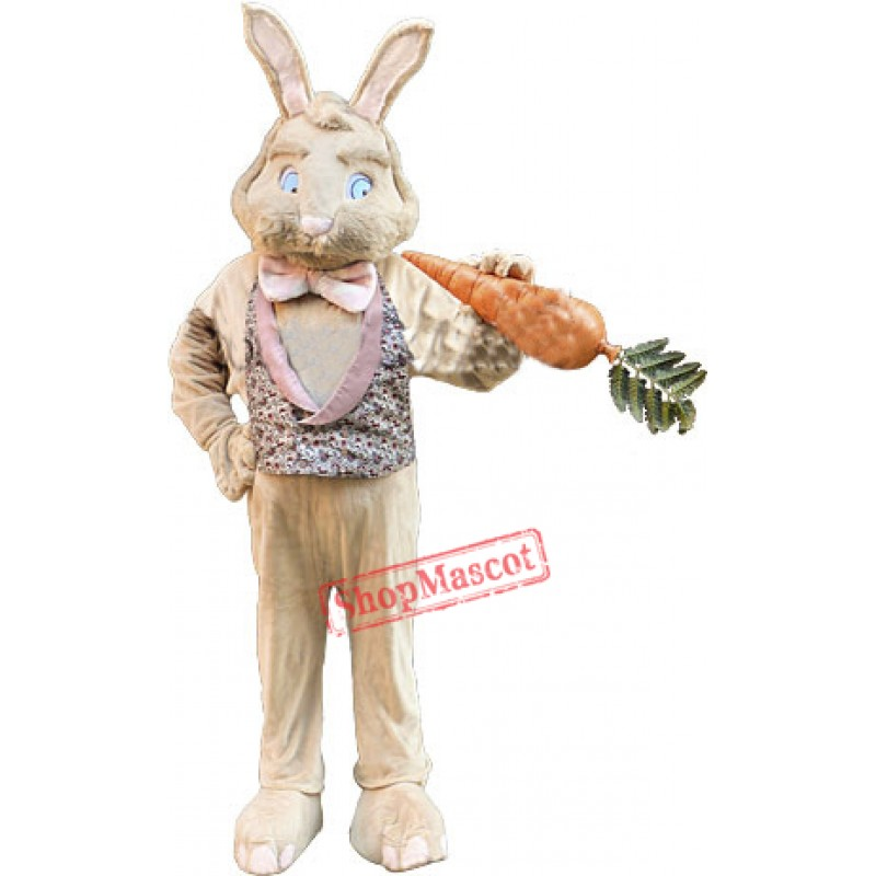 Tan Bunny Rabbit Mascot Costume
