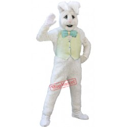 Cute White Bunny Rabbit Mascot Costume