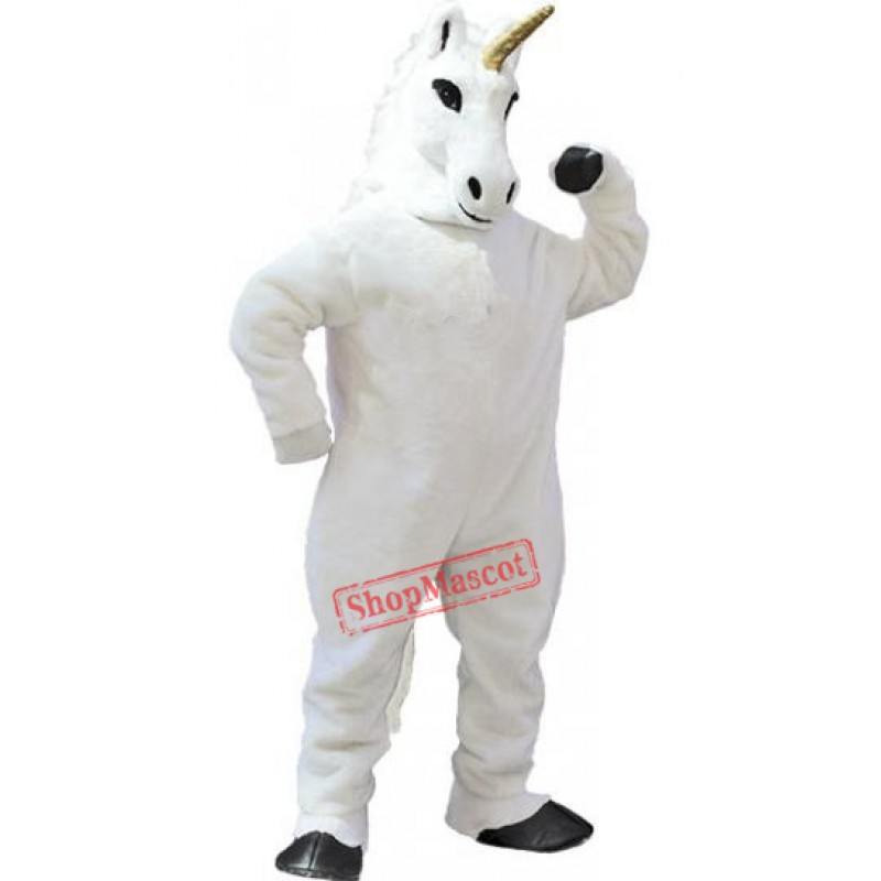 White Unicorn Mascot Costume Free Shipping
