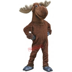 Cute Moose Mascot Costume Free Shipping