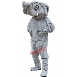 Grey Elephant Mascot Costume