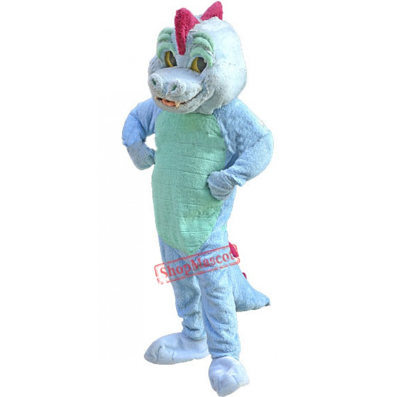 Blue Magic Dragon Mascot Costume