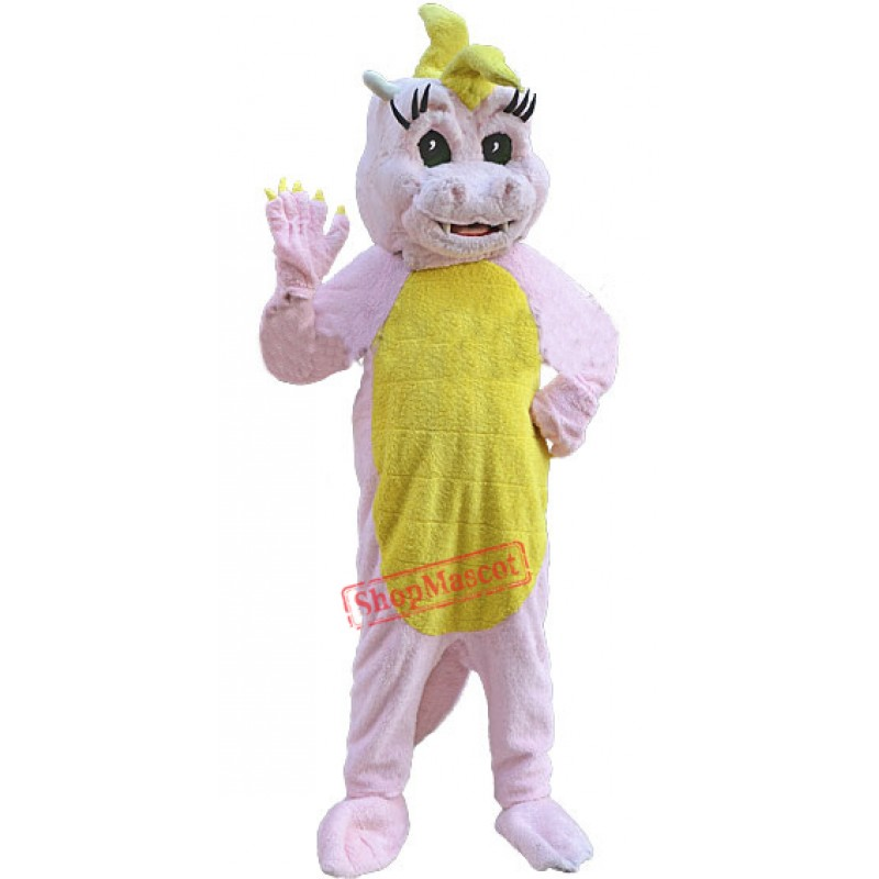 Pink Magic Dragon Mascot Costume