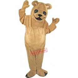 Tan-Brown Teddy Bear Mascot Costume