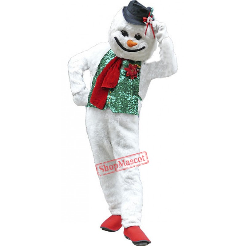 Holiday Snowman Mascot Costume