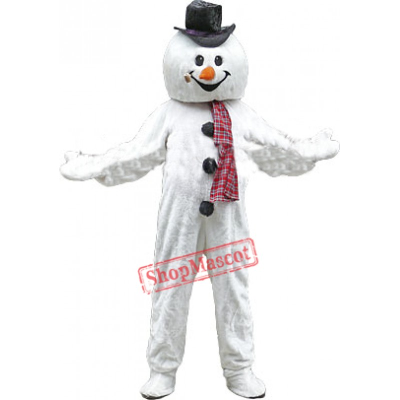 Christmas Snowman Mascot Costume Free Shipping
