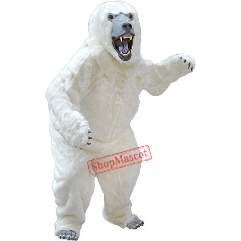 High Quality Deluxe Polar Bear Mascot Costume
