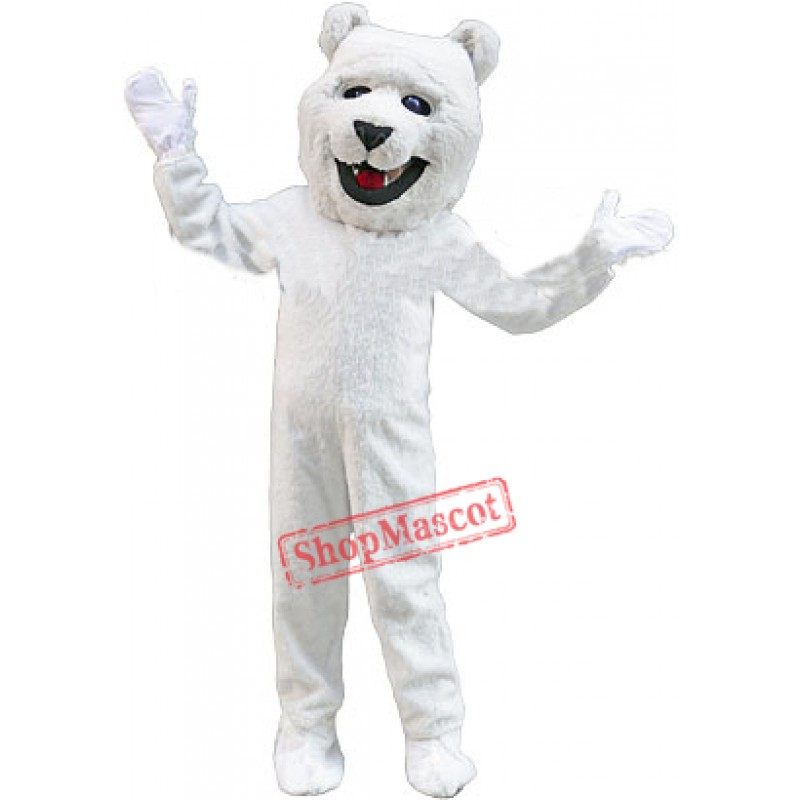 Friendly Polar Bear Mascot Costume Free Shipping