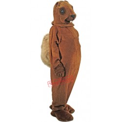 A Medium-brown Squirrel Mascot Costume