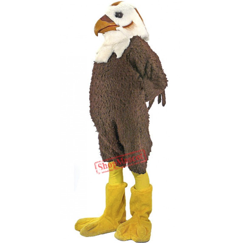 Brown & White Hawk Mascot Costume